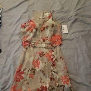 Enfocus Studio Dresses - En Focus Studio Tan Floral Dress